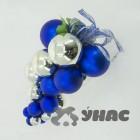 """арт.Н70393 Подвеска """"Виноград"""", h=30см, цвет-серебро/синий"""