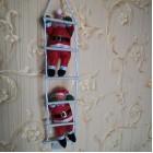 арт.Н101882 Игрушка-украшение Два Дед Мороза 25см на лестнице 70см