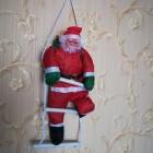 арт.Н101885 Игрушка-украшение Дед Мороз 50см на лестнице 70см