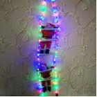 арт.Н117888 Игрушка-украшение Два Дед Мороза 30см на лестнице из дюралайта 95см