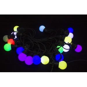 Гирлянда светодиодная Неоновые шарики (крупные), d=5.0см, 1 диод-4 цвета, длина 11м., соединяются. Артикул Г5593