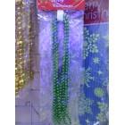 арт.Н70278 Бусы новогодние, L=1.8м, d=0.7см, цвет-зеленый
