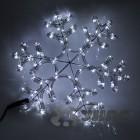 Снежинка светодиодная, диаметр 40см,  цвет-белый. Артикул Г11988