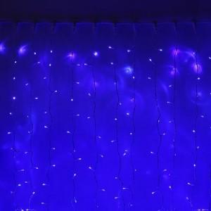 Светодиодный занавес Плей-Лайт, 1.5*1.5м, стыкуется, с мерцающими диодами, цвет-синий. Артикул Г1251