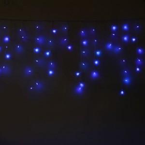 "Гирлянда светодиодная ""Бахрома"", мерцает, 2.5*0.4/0.8м, стыкуются, цвет синий. Артикул Г1351"