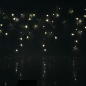 "Гирлянда светодиодная ""Бахрома"", мерцает, 2.5*0.4/0.8м, стыкуются, цвет - теплый белый. Артикул Г1349"