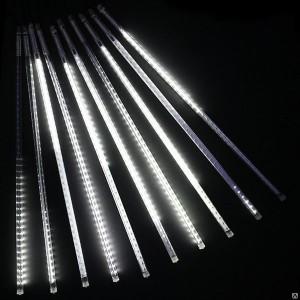 """Гирлянда """"Тающие сосульки"""", длина 3,2м, высота сосулек 80см, 7шт.,цвет белый, соединяются. Артикул Г1831"""
