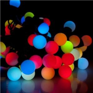 Гирлянда светодиодная Неоновые шарики (крупные), d=2.3см, 1 диод-4 цвета, длина 10м., соединяются. Артикул Г5581