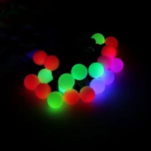 Гирлянда светодиодная Неоновые шарики (средние), d=1.5см, 1 диод-4 цвета, длина 20м., цвет-мульти, с 8-ми режимным контроллером. Артикул Г671568
