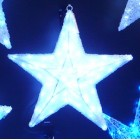 Звезда яркая объемная 3D, 448 светодиодов,диаметр 60см,, цвет-белый. Артикул Г9583