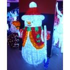 Снеговик 3D, белый в красном полушубке, размер 170*125см. Артикул Г9563