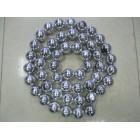 арт.Н0254 Бусы шары d=5см, длина 2.5м, 50шт., цвет-серебро